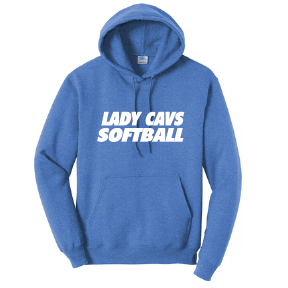 Lady Cavs Fleece Hoody  / Heather Royal / PAHS Softball