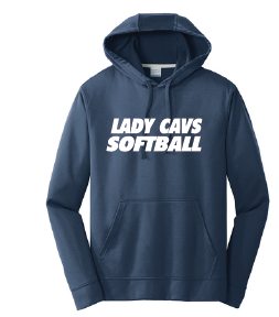 Performance Fleece Pullover Hooded Sweatshirt / Navy / PAHS Softball