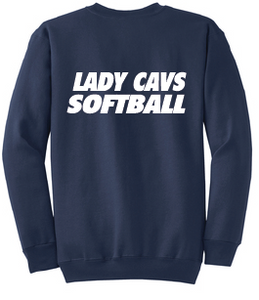 Lady Cavs Core Fleece Crewneck Sweatshirt / Navy / Princess Anne Softball