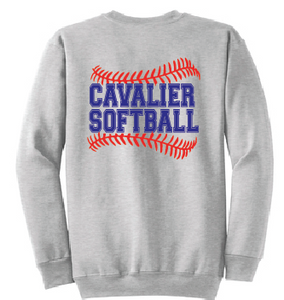 Core Fleece Crewneck Sweatshirt / Ash / PAHS Softball