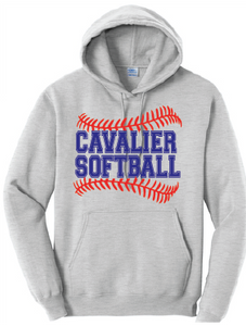 Cavalier Softball Fleece Hoody / Ash / PAHS Softball