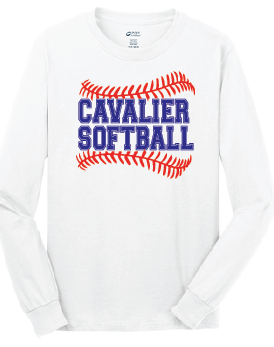 Long Sleeve Cotton Tee / White / PAHS Softball