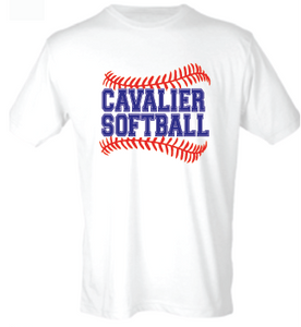 Softstyle Cotton T-Shirt / White / PAHS Softball