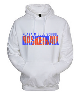 Hooded Sweatshirt (Youth & Adult) / White / Plaza Basketball