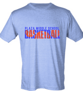 Softstyle Short Sleeve T-Shirt / Heather Blue / Plaza Girls Basketball
