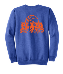 Crewneck Sweatshirt (Youth & Adult) / Heather Royal / Plaza Girls Basketball