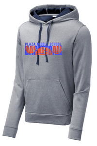 Performance Fleece Hooded Pullover/ True Heather Navy / Plaza Basketball