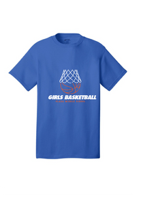 Short Sleeve T-Shirt / Heather Royal / Plaza Girls Basketball - Fidgety