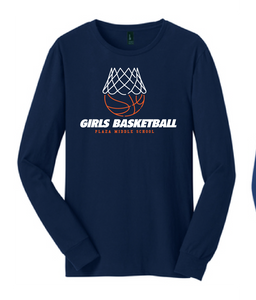 Long Sleeve T-Shirt / Navy / Plaza Girls Basketball - Fidgety