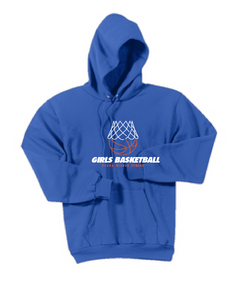 Hooded Sweatshirt / Royal / Plaza Girls Basketball - Fidgety