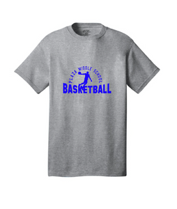 Short Sleeve T-Shirt / Gray / Plaza Boys Basketball - Fidgety
