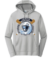 YOUTH Performance Pullover Hooded SILVER Sweatshirt - Tidewater Patriots - Fidgety