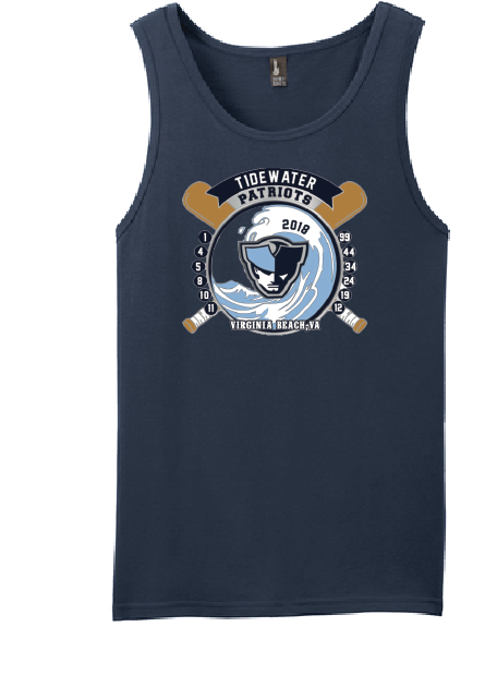 Young Mens Cotton Tank - Tidewater Patriots - Fidgety