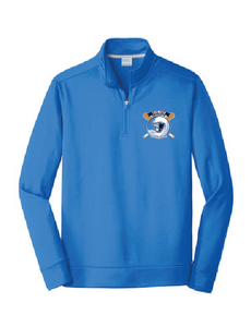 Performance Fleece 1/4-Zip Pullover Sweatshirt / Royal / Tidewater Patriots - Fidgety