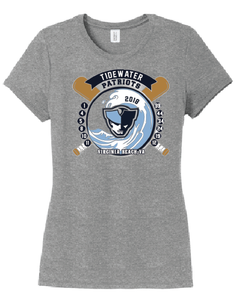Ladies Tri-Blend T-Shirt / GRAY FROST - Tidewater Baseball - Fidgety