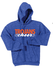Fleece Pullover Hooded Sweatshirt / Heather Royal / Plaza Cheer - Fidgety