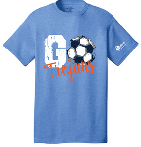Go Trojans Short Sleeve T-Shirt / Heather Royal / Plaza Girls Soccer - Fidgety