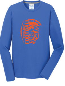 Trojans Football Long Sleeve T-Shirt / Blue / Plaza Football - Fidgety
