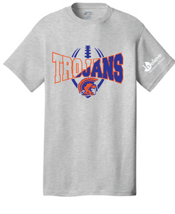 Trojans Short Sleeve T-Shirt / Ash Gray / Plaza Football - Fidgety