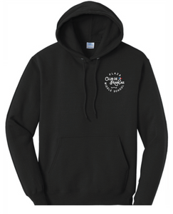 Fleece Hooded Sweatshirt (Youth & Adult) / Black / Plaza French