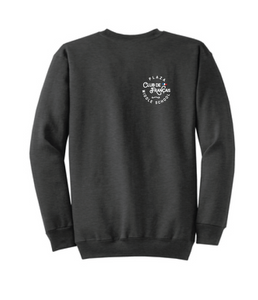 Fleece Crewneck Sweatshirt (Youth & Adult) / Black / Plaza French Club