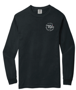 Comfort Colors Heavyweight Long Sleeve Tee / Black / Plaza French Club