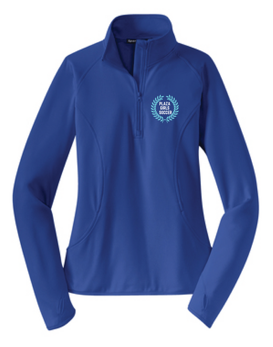 Performance 1/4 Zip Pullover / True Royal / Plaza Girls Soccer - Fidgety