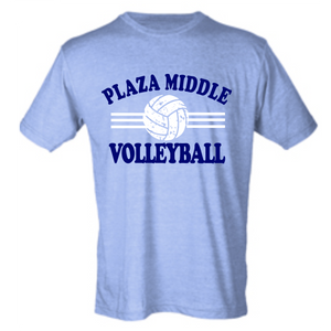 Softstyle Short Sleeve T-Shirt (Youth & Adult) / Heather Blue / Plaza Volleyball