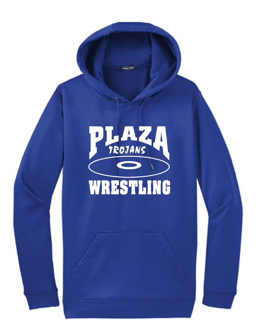 Performance Fleece Pullover Hooded Sweatshirt / Royal / Plaza Wrestling