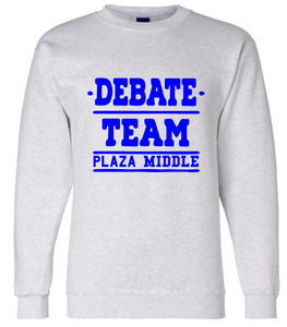 Fleece Crewneck Sweatshirt / Ash Gray / Plaza Debate