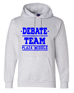 Fleece Hooded Sweatshirt (Youth & Adult) / Ash Gray / Plaza Debate