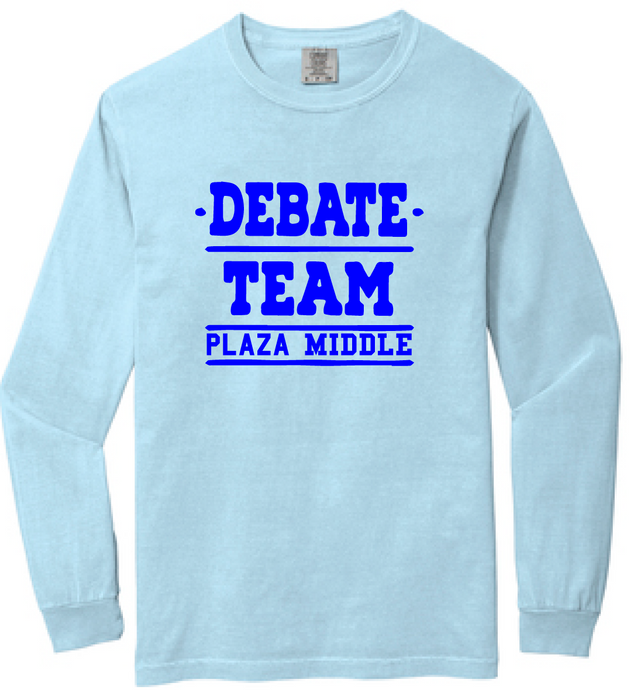 Comfort Colors Heavyweight Ring Spun Long Sleeve Tee / Chambray / Plaza Debate