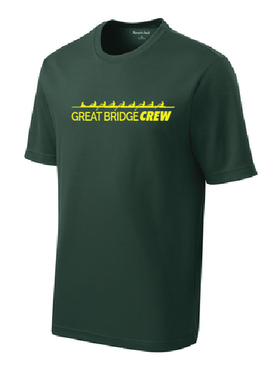 PosiCharge Racer Mesh Athletic Tee / Forest Green / Great Bridge Crew - Fidgety