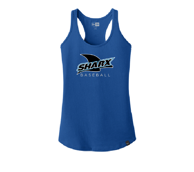 Ladies Heritage Blend Royal Racerback Tank - Sharx Baseball - Fidgety
