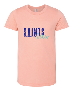 Triblend Jersey Short Sleeve Tee / Peach / Saints Crew - Fidgety