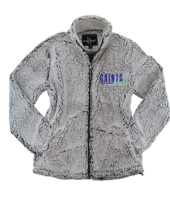 Sherpa Full-Zip Jacket (Youth & Adult) / Frosty Grey / Saints Crew