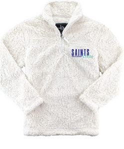 Sherpa Quarter-Zip Pullover (Youth & Adult)/ Natural / Saints Crew