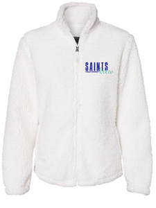 Sherpa Full-Zip Jacket (Youth & Adult) / Natural / Saints Crew