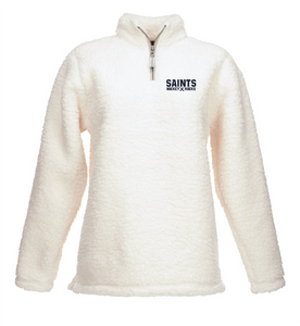 Women's Epic Sherpa Quarter-Zip / Cream / Saints-[product_collection]