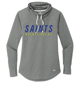 Sueded Cotton Blend Cowl Tee / Heather Grey / Saints