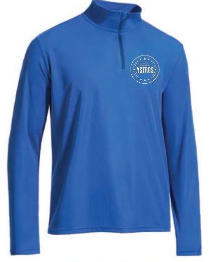 1/4 Zip Pullover - Royal Blue - Fidgety