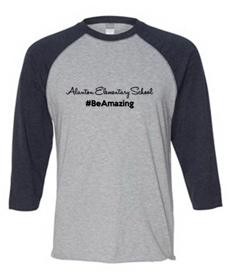 Be Amazing - Black/Gray Raglan Tee Adult / Alanton - Fidgety
