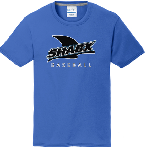 Ring Spun Cotton T-shirt - Sharx Baseball - Fidgety