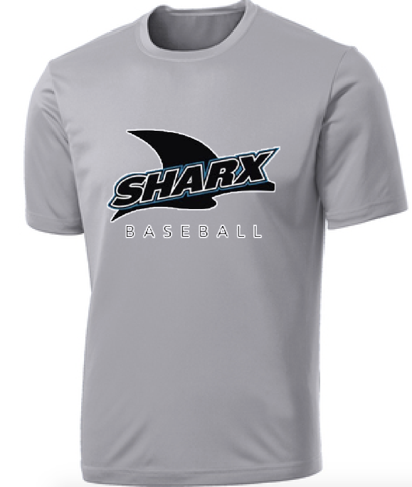 Performance/Activewear T-Shirt - Sharx Baseball - Fidgety