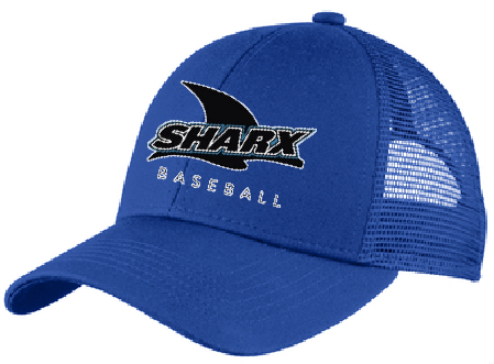 Adjustable Mesh Back Hat / Royal - Sharx Baseball - Fidgety
