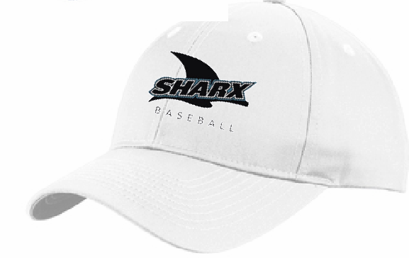 Adjustable Mesh Back Hat / White - Sharx Baseball - Fidgety