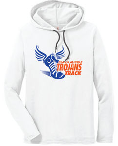 Plaza Trojans Track Long Sleeve T-Shirt Hoody - White - Fidgety