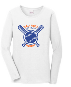 Plaza Softball Long Sleeve T-Shirt - Fidgety