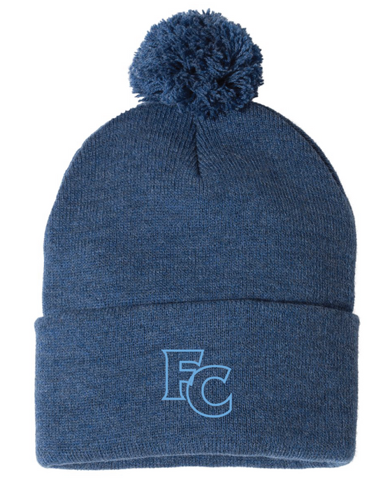 Pom Beanie / Heather Navy / FC Wrestling