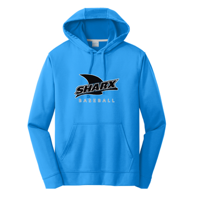 Performance Fleece Pullover Hooded ROYAL Sweatshirt - Sharx Baseball - Fidgety